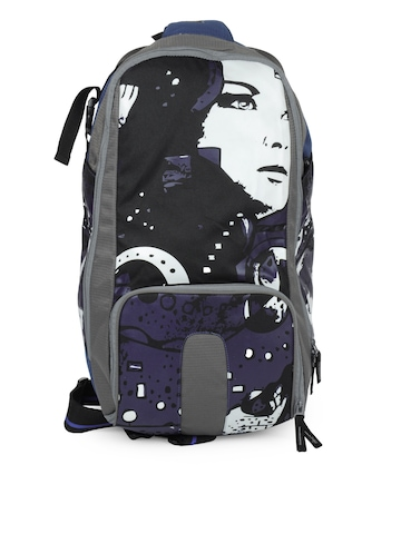 Wildcraft Unisex Blue and Grey Printed Duffel Bag