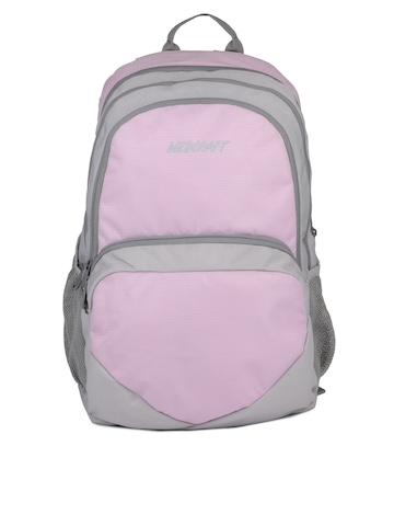 Wildcraft Unisex Pink & Grey Backpack