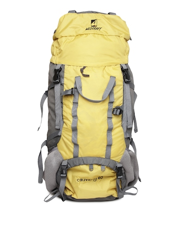 Wildcraft Unisex Yellow & Grey Rucksack