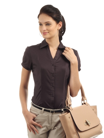 Buy Wills Lifestyle Women Formal Brown Shirt - Shirts for Women ...