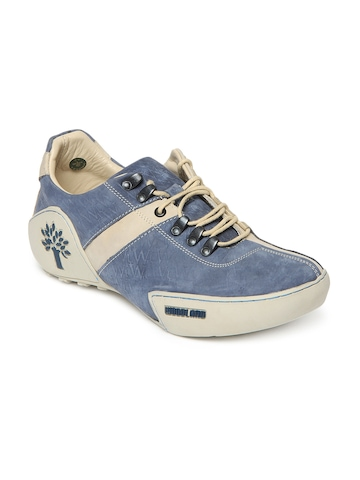 Woodland Men Blue & Off-White Casual Shoes