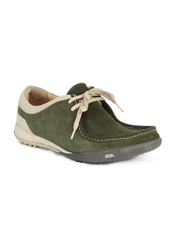 Woodland Men Olive Green Shoes