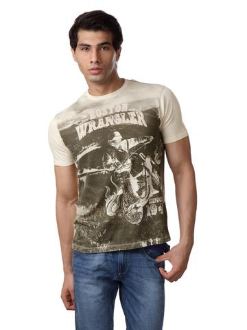 Wrangler Men Beige T-shirt