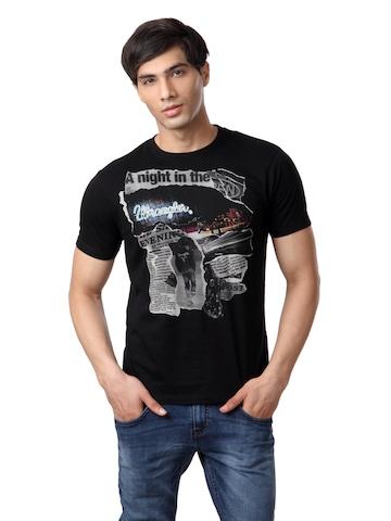 Wrangler Men Black T-shirt