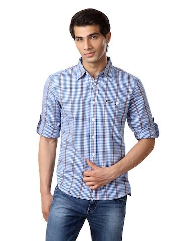 Wrangler Men Blue Shirt