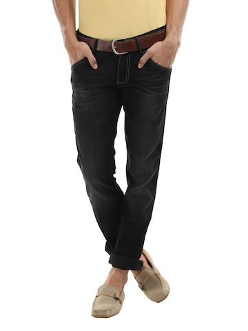 Wrangler Men Black Skanders Slim Fit Jeans