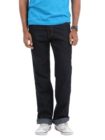Wrangler Men Navy Blue Texas Jeans