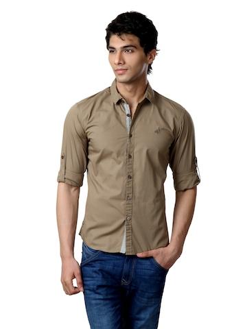 Wrangler Men khaki Shirt