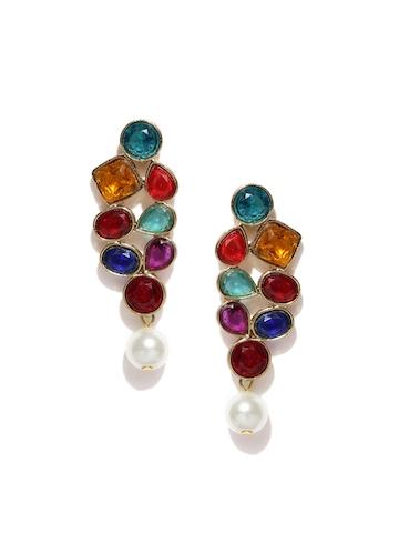 Zaveri Pearls Multicoloured Drop Earrings at myntra