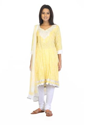 BIBA OUTLET Women Printed Yellow Salwar Suit