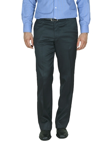 Wills Lifestyle Men Charcoal Trousers