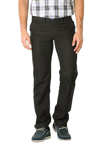Basics Men Dark Brown Trousers