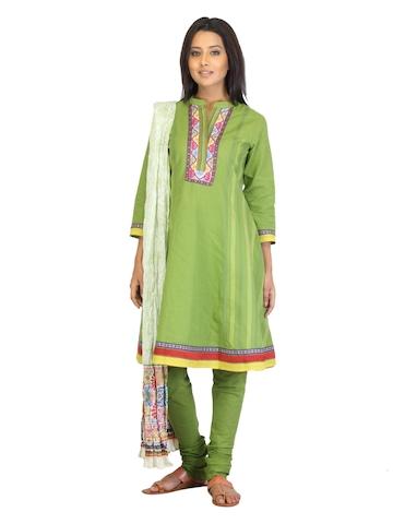 BIBA OUTLET Women Green Salwar Suit
