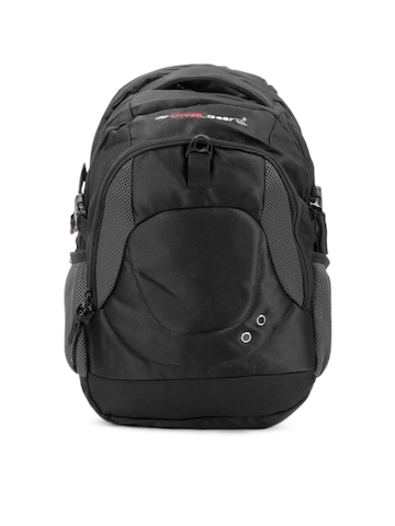 Vital Gear Unisex Techno Black Backpack