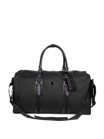 Peter England Unisex Black Duffle Bag
