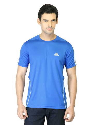 Adidas Men Blue T-shirt