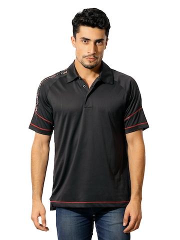 Adidas Men Polo Black T-shirt
