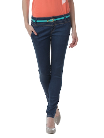 United Colors of Benetton Women Navy Blue Jeans