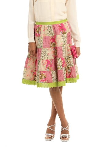 Mineral Pink & Green Skirt