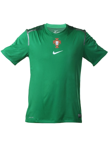 Nike Men Green Portugal Football T-shirt