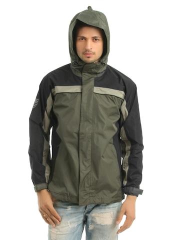 Just Natural Unisex Olive Rain Jacket