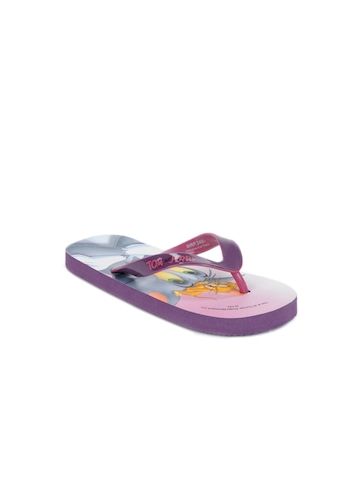 Warner Bros Kids Unisex Purple Flip Flops