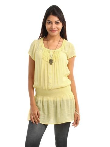 109F Women Yellow Tunic