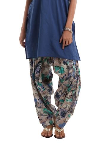 Shree Women Beige & Blue Patiala