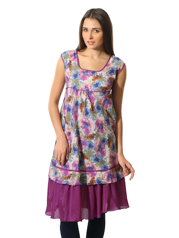 Aneri Women Purple Kurta