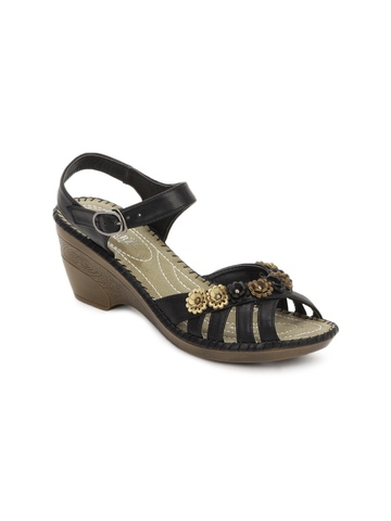 Cobblerz Women Black Sandals