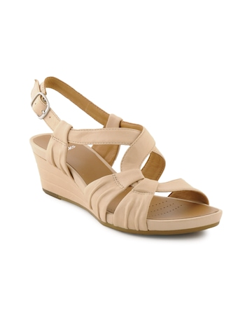 Clarks Women Prize Club Beige Wedges