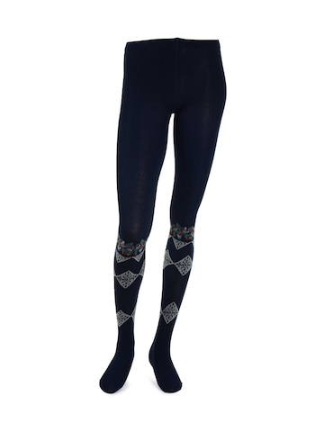 United Colors of Benetton Women Solid Navy Blue Tights
