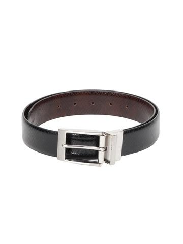 Levitate Men Reversible Black & Brown Leather Belt