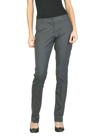 Scullers For Her Women Grey Trousers
