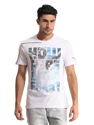 Puma Men White T-shirt