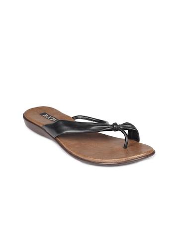 Rocia Women Black & Brown Sandals