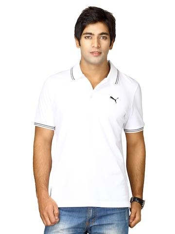 Puma Men's Foundation Polo White T-shirt