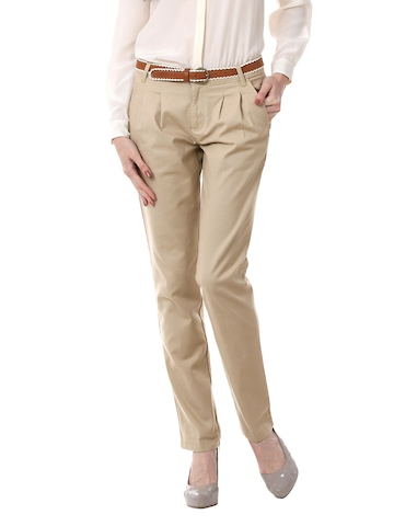 United Colors of Benetton Women Beige Trousers