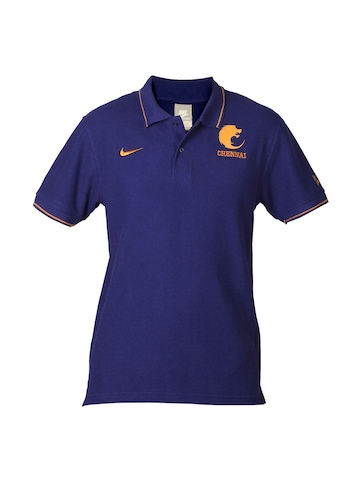 Nike Men Cricket Blue Polo T-shirt