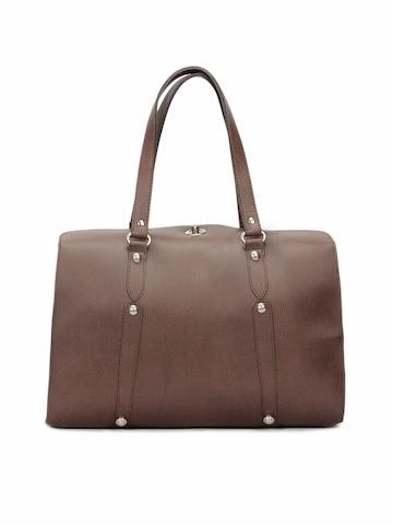 Spice Art Women Leatherette Brown Handbag
