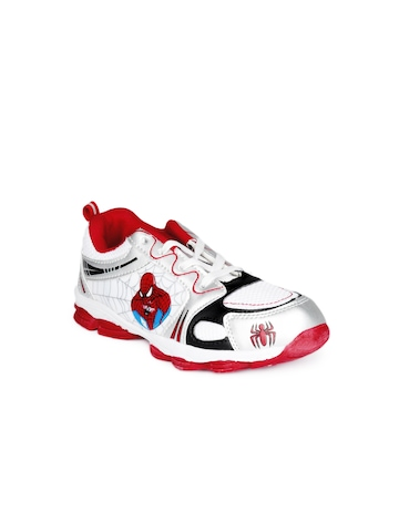 Marvel Boys White Shoes