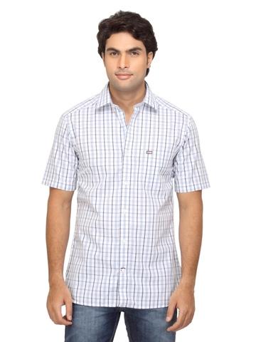 Arrow Sport Men Blue Check Shirt