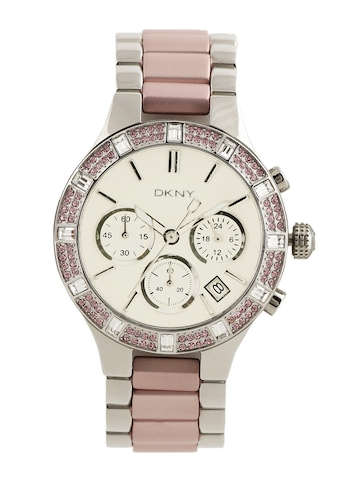 DKNY Women Silver Dial Chronograph Watch