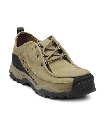 Woodland Men Olive Shoes