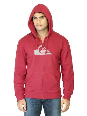 Quiksilver Men Red Printed Sweatshirt