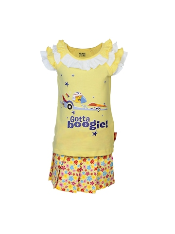 Little Miss Girls Blazing Yellow Clothing Set