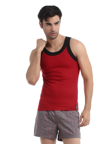 Chromozome Men Red Innerwear Vest