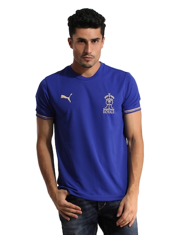 Puma Rajasthan Royals Men Blue Lookalike Jersey
