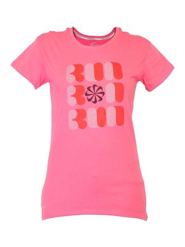 Nike Women Polka Dot Grafitti Pink T-shirt