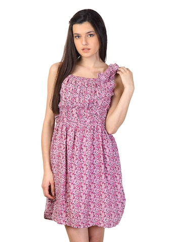 Jealous 21 Women Pink Printed Dress